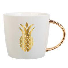 Gold Pineapple Mug 14oz