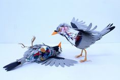 dead paper bird