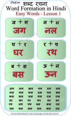 Learn to Read Hindi for Kids.Learn to read 2 Letter Hindi Words - Lesson Basic Hindi words and word formation without Matras made very easy for kids and beginners. Worksheets For Class 1, Hindi Worksheets, Free Kindergarten Worksheets, Writing Worksheets, Alphabet Worksheets, Kindergarten Syllabus, Nursery Worksheets, Kindergarten Addition, Hindi Alphabet