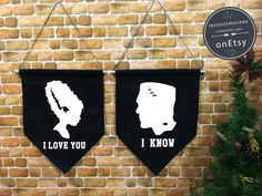 Hey, I found this really awesome Etsy listing at https://www.etsy.com/listing/464191854/i-love-you-i-know-baner-flag-halloween