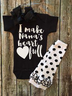 Baby Girl Onesie I make nanas heart full onesie Girls Nana Onesies Grandparent…
