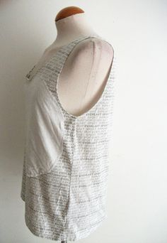 White Circular Applique Tank Top by handmadebyify on Etsy, £4.00