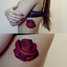 tatoo designed by Sasha Unisex, a Russian-based artist Rose Tattoos, Flower Tattoos, Body Art Tattoos, New Tattoos, Tatoos, Pretty Tattoos, Unique Tattoos, Beautiful Tattoos, Piercing Tattoo