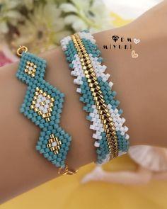 Definitely imitate – Women's Here - DIY Schmuck Bead Loom Bracelets, Beaded Bracelet Patterns, Bracelet Designs, Beaded Earrings, Bead Jewellery, Seed Bead Jewelry, Women's Jewelry, Bead Crochet Patterns, Bead Earrings