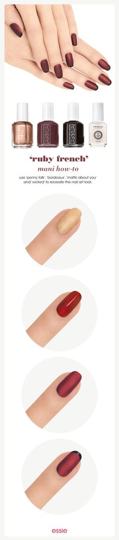 Try this matte twist on the traditional french mani. Watch our how-to here. ‪#‎howtotuesday‬