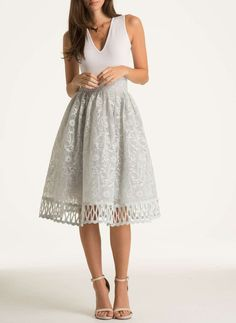 **Chi Chi London Cutwork midi skirt