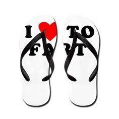 I Love to Fart Flip Flops