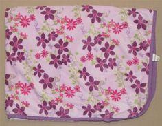 Disney Fairy Tale Dreams Fairies Purple Sherps Flowered Baby Blanket Pink Velour #Kidsline