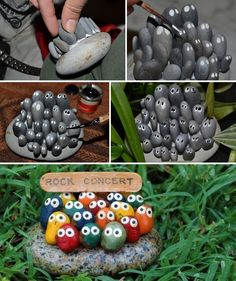 Isn't This Rock Concert Stone Art Simply Adorable?  - http://www.amazinginteriordesign.com/isnt-rock-concert-stone-art-simply-adorable/