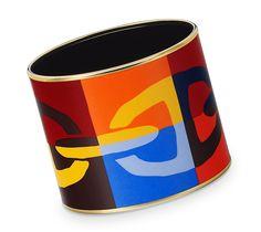 Hermes....wider size enamel bracelet