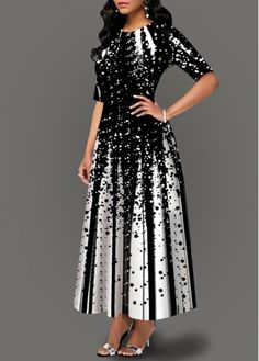 Print Long Evening Party Dress Fashion African Half Sleeve A-Line Draped Elegant Women Dress Ladies Slim Dress robe de soiree Women's Fashion Dresses, Sexy Dresses, Evening Dresses, Casual Dresses, Plus Size Robes, Plus Size Dresses, Dresses For Sale, Maxi Dress With Sleeves, The Dress
