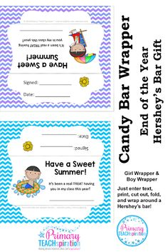 End Of Year Candy Bar Wrapper Awards Worksheets & Teaching Resources End Of School Year, End Of Year, School Fun, School Ideas, School Gifts, Sweet Wrappers, Candy Bar Wrappers, Candy Bar Awards, Classroom Freebies