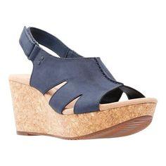 7655f5c246 Women's Clarks Annadel Bari Slingback - Navy Nubuck Sandals. BariClarksWedge  SandalsShoes ...