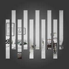 Espelho Decorativo Listras - Deixe seu ambiente mais bonito com este espelho decorativo em acrílico.
