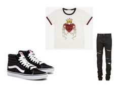 """""""Men's Outfits"""" by lexidonovan123 on Polyvore featuring Dolce&Gabbana, Yves Saint Laurent, men's fashion and menswear"""