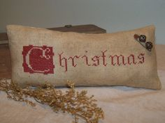 Primitive Cross Stitch 'C is for Christmas' by simplethymeprims, $28.00