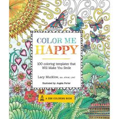 Lacy Mucklow Angela Porter Color Me Happy 100 Coloring Templates That Will Make You Smile Paperback At The Paper Store