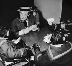 buster and friends playing cards
