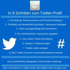 In 8 Schritten zu Ihrem professionellen Twitter-Profil inkl. Infografik -http://bit.ly/2jCxD91  -by @JulianeBenad via @DigitalMediaDE #tips