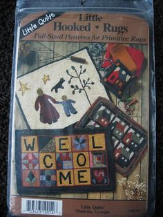 Little Hooked Rugs By Little Quilts Primitive Punch by Vntgfindz