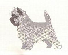 Cairn Terrier    Canine Cut Ups, via Etsy.
