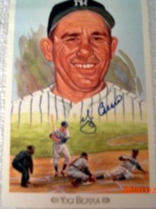 Yogi Berra Autographed Celebration Postcard | crazycollectors.com