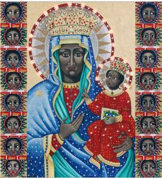 from artist Claire Berlein, a Black Madonna icon commissioned by Margie Murgatroyd of Africa Nova. Lady Madonna, Madonna And Child, Mother Mary, Mother And Child, Black Jesus, Sculpture Art, Sculptures, Sacred Art, Religious Art