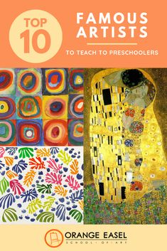 Top 10 Famous Artists to Teach to Preschoolers -- Teaching Art History to Preschoolers can be engaging and full of process art invitations. We've compiled a list of OUR favorite famous artists, why we…More Art History Timeline, Art History Major, Art History Memes, Art History Lessons, Art Lessons, History Facts, Art History Projects For Kids, Art Projects, Kindergarten Art