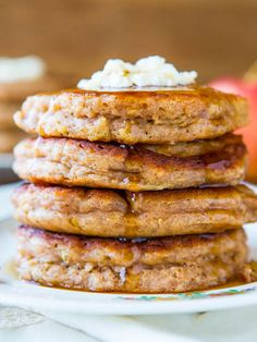 Love apples, but don't feel like taking the time to bake a pie? Bake them into your pancakes for a warm and spicy breakfast. Get the recipe from Averie Cooks.   - Delish.com