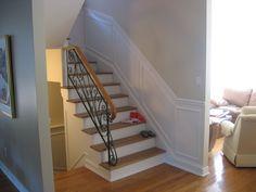 decorar escaleras con estilo 50 ideas columnas de madera escalera y columnas. Black Bedroom Furniture Sets. Home Design Ideas