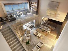 Decor Salteado - Blog de Decoração e Arquitetura : Casa com pé direito duplo - como decorar? Veja dicas e modelos!