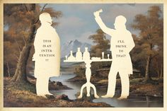 """Silhouette Masterpiece Theater by Wilhelm Staehle.     So, it's not """"painting"""" persay, but still pretty cool graphic prints."""