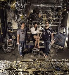 "Red Tettemer O'Connell and Partners had this photo taken of the agency's in-house ""maker department"" to show how Steve Red, Carla Mote, and Steve O'Connell ""don't mind getting their hands dirty when it comes to a good idea."""