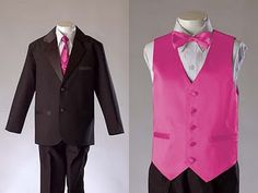 love it! hot pink tie...or bow tie :)