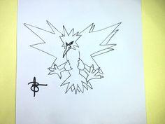 Como desenhar o Zapdos (Pokemon)