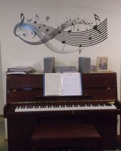 Dressing up a piano wall!