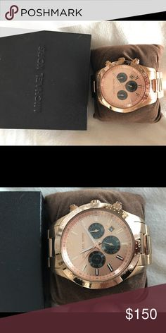 Michael Kors Watch Rose gold, only worn a couple times, large face, still comes with box Michael Kors Accessories Watches