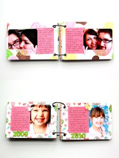 What a Difference a Year Makes | Marie Taylor #mini #album #scrapbook #journal #portrait #simple #layout