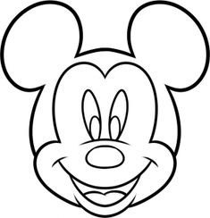 mouse crafts how to draw mickey mouse for kids step 7 Mickey Mouse Kunst, Mickey Mouse Crafts, Mickey Mouse Drawings, Minnie Y Mickey Mouse, Disney Crafts, Disney Drawings, Mickey Drawing, Mickey Mouse Cookies, Drawing Disney