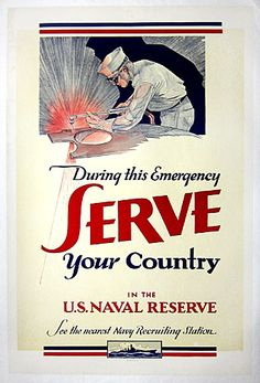 Serve Your Country  US Navy  c. 1942-1945