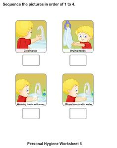 Personal Hygiene Worksheets For Kids   Collection (1 8)