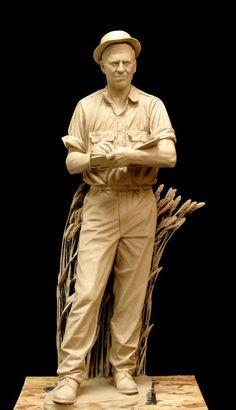 "Benjamin Victor, ""Norman Borlaug,"" Clay Sculpture, 2014. (© 2014 Benjamin Victor)"