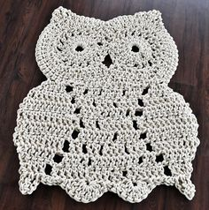 I wonder if I could make this!? Whoo Whoo let this large owl in your house by TwistedThreadAndHook