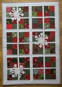 Christmas Quilt - doing this someday!