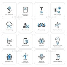 by VVaD Flat Design Icons Set. Icons for business management finance strategy planning analytics banking communication social network affi Flat Design Icons, Icon Design, Flat Icons, Business Icon, Business Design, Real Estate Icons, Staff Training, Social Media Icons, Cloud Computing