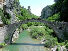 Konitsa's old bridge. by Ioanna_Art, via Flickr