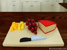 Mmmmm mmmm. Check out this delightful LEGO Cheese Platter MOC (by bruceywan on Flick)