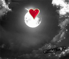 . Love Images, Love Pictures, Animated Heart, Bff Girls, Love You Gif, Good Night Gif, Name Art, Beautiful Moon, Moon Art