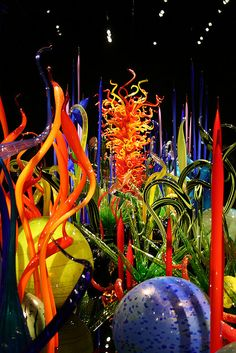 Chihuly exhibit at the de Young, San Francisco