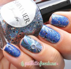 Shimmer polish Jennifer // Glitter jewel